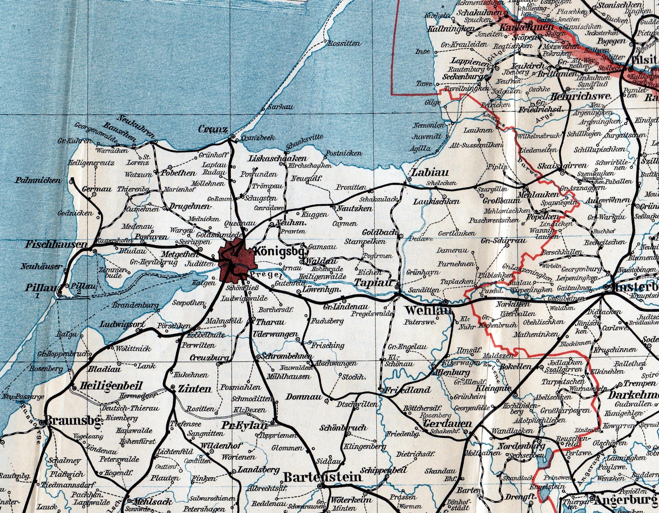 Königsberg Kaliningrad Karte.Die Friderizianer