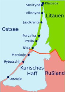 Karte der Kurischen Nehrung
