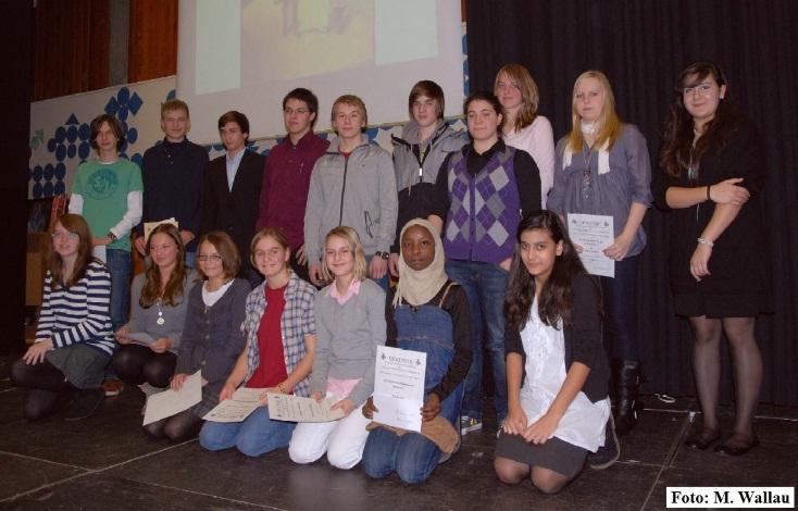 Die Preisträger des Friderizianer Wettbewerbs im Jahr 2010