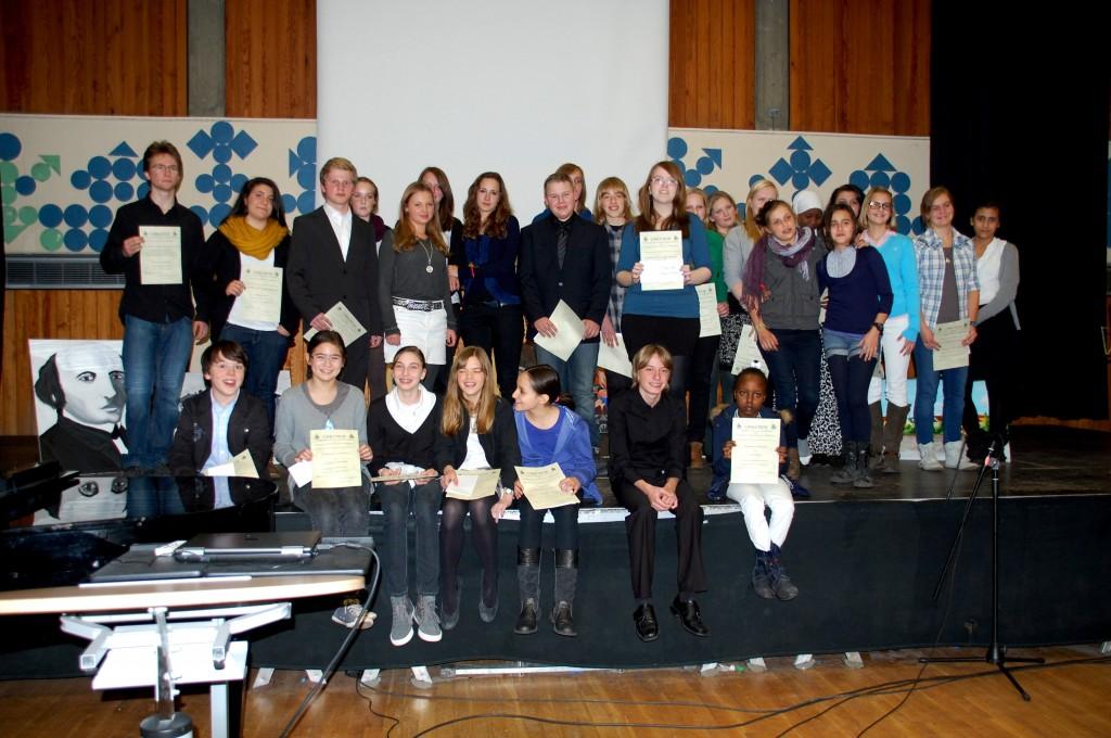 Die Preisträger des Friderizianer-Wettbewerbs 2011